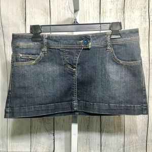 Bershka Denim Micro Mini Denim Skirt Size 6 Cotton